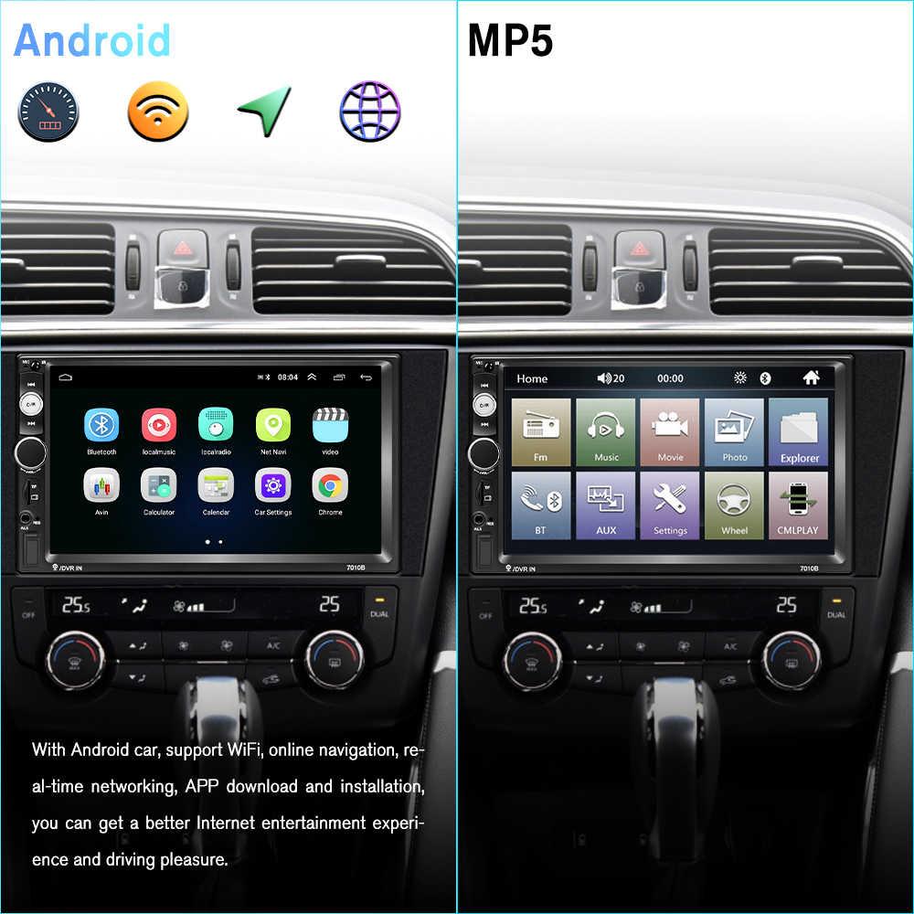 2019 mais novo podofo android 2 din rádio do carro multimídia player 2gb + rom 32gb 77gps gps mapa nenhum dvd 2din autoradio para ford volkswagen