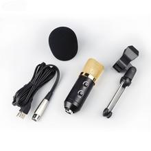 MK F100TL Usb Cardioid Pick Up Condensator Microfoon Voor Computer Pc Netwerk Zingen Opname Youtube Met Shockproof Statief