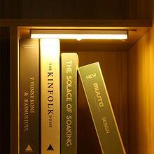 Светодиодный светильник с движения Сенсор шкаф лампа зарядка