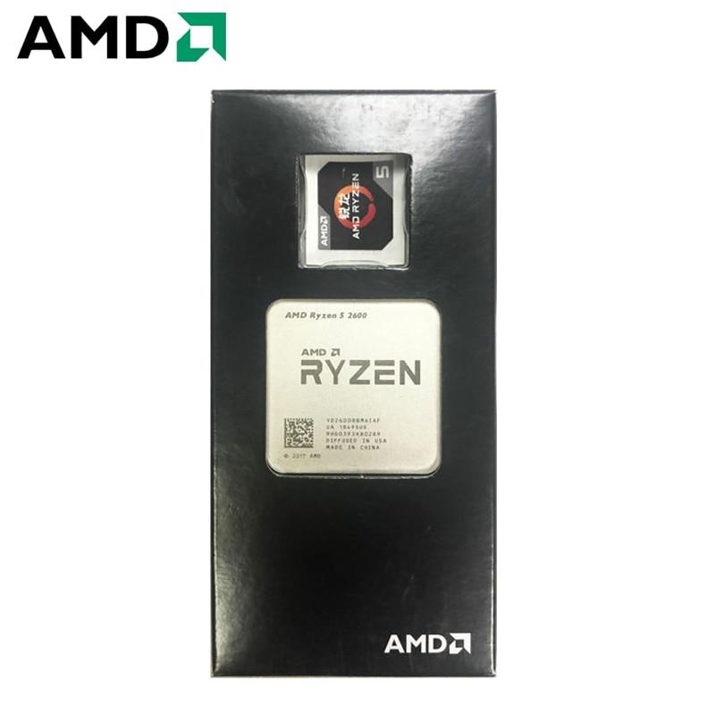 AMD Ryzen 5 2600 R5 2600 3.4GHz Six-Core 3MB Twelve-Thread Desktop CPU Processor 65W Socket AM4 NEW 1