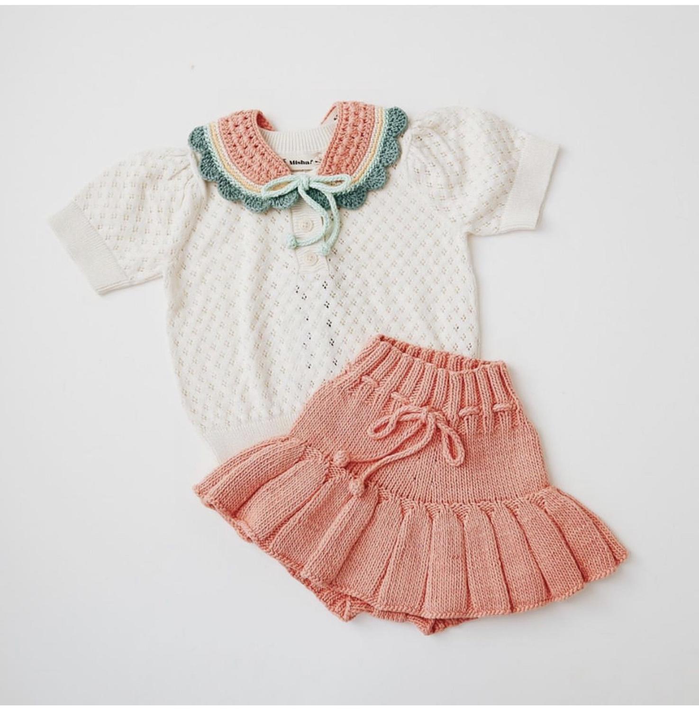 EnkeliBB 2020 New Misha And Puff Kids Knit Collar Beautiful Boys Girls Crochet Collars Lovely Hand Made Misha Puff