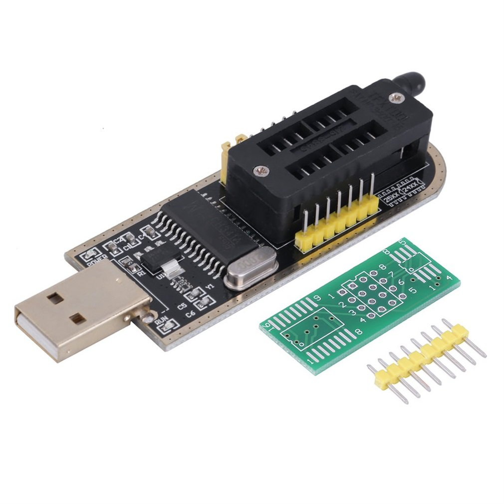 Black & Yellow 25 SPI Series 24 EEPROM CH341A BIOS Writer Routing LCD Flash USB Programmer Easy Convenient Operation