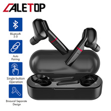 CALETOP Bluetooth 5.0 TWS Wireless Earphone Sports Headphone Waterproof Sweatproof  Touch Control with Microphone Charging Case