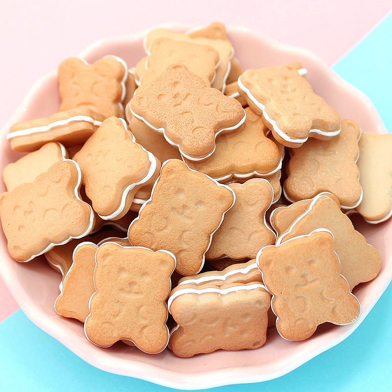 Happy Monkey Slime Charms Resin Bear Biscuits Additives Supplies Accessories DIY Kit For Fluffy Clear Cloud Crunchy Slime Clay