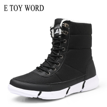 E TOY WORD Women winter shoes snow Boots Women Plush Warm waterproof boots Large Size 43 shoes outdoor women's cotton boots цены
