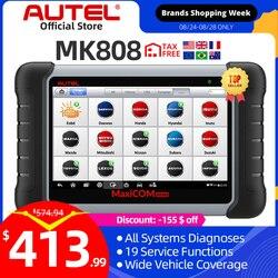 Autel MaxiCOM MK808 OBD2 diagnostyka samochodu Auto skaner tester oleju silnikowego auto tester skaner diagnostyczny OBD 2 czytnik kodów programator kluczy programowanie kluczy klucz kodowania MX808 DS808 MP808 MP808TS