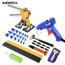 Coche de alquiler de herramientas de reparación de abolladuras dent Reparación de Kit de coche Extractor de abolladura con pegamento Extractor de pestañas de Kits para vehículo Auto