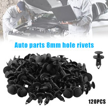 Car Accessories 8mm Hole Plastic Rivets Fastener Push Clips Clip for Car Auto Fender 120Pcs(China)