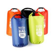 10L/20L PVC Dry Waterproof Floating Bag Roll Top Dry Bag Water Sports Storage Bag Lightweight Dry Sack