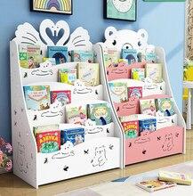 Children's Bookshelf стелаж для книг Floor Shelf Student Bookcase Kindergarten Children's Picture Book Storage Magazine RacK 69 46 19 5cm double layer bamboo bookcase desktop bookshelf book storage rack with drawer