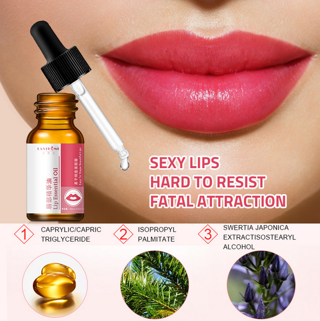 Lanthome Lip Essence Oil, dispel lips dry, increase moistening degree, protect lip skin. 3