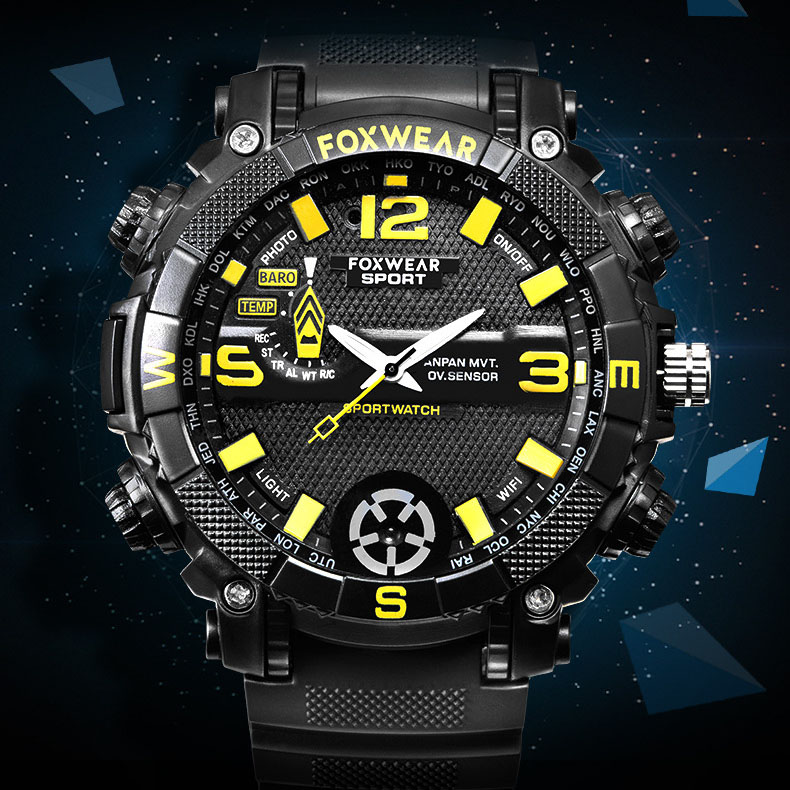 outdoor sports smart camera watch HD Photo WiFi remote LED