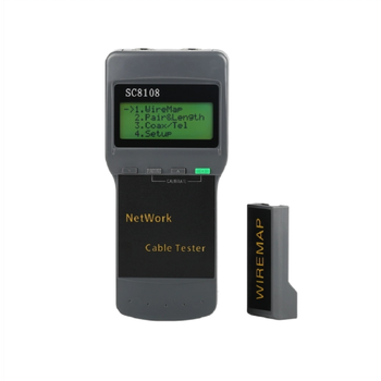 Portable SC8108 LCD Network Tester Meter RJ45 Cat5 Cat6 UTP Unshielded LAN Cable Tester RJ11 LAN Phone Cable Meter LCD Display professional network cable tester rj45 rj11 rj12 cat5 utp lan cable tester detector remote test tools networking white