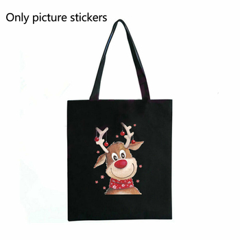 DIY Christmas Deer Kids T-Shirt Sticker Clothes Patch Cute Badges Hippie Iron On Kids Patches For Clothes Stickers Badge HOT