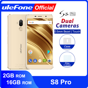 Ulefone S8 Pro Dual Rear Cameras Mobile Phone 5.3 inch HD MTK6737 Quad Core Android 7.0 2GB+16GB 13MP Fingerprint 4G Smartphone  - buy with discount