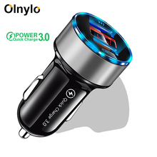 Olnylo Car Charger Quick Charge 3.0 Dual USB For iPhone 11 Pro XR XS Max X Xiaomi Huawei Mobile Phone Charger Fast Car-Charger olnylo car charger quick charge 3 0 dual usb for iphone 11 pro xr xs max x xiaomi huawei mobile phone charger fast car charger