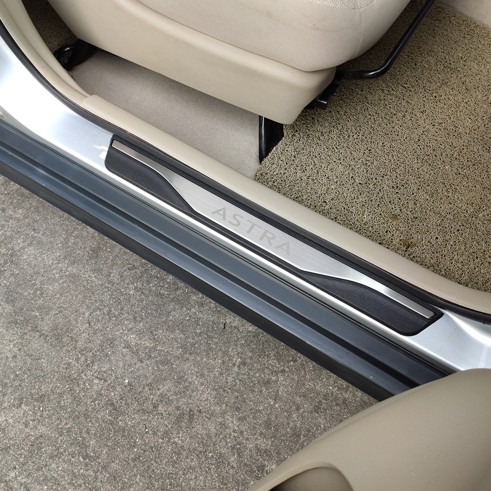 Styling Accessories For Car Opel Vauxhall Astra Door Sill Scuff Plates Stainless Steel Protector Car Sticker Styling 2010 2018|Nerf Bars & Running Boards| |  - title=