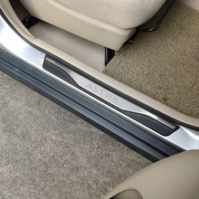 Styling Accessories For Car Opel Vauxhall Astra Door Sill Scuff Plates Stainless Steel Protector Car Sticker Styling 2010-2018(China)