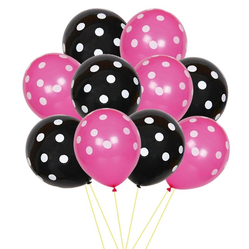 POLKA DOTS Latex Balloons Mickey Decor Baby Shower Wedding Birthday Party Supply
