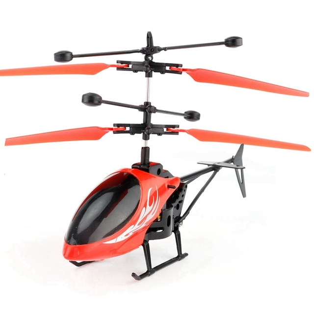 Mini RC Induction Aircraft Flashing Light Toys RC Airplanes Intelligent Hand Induction Remote Control Airplane Toy 1