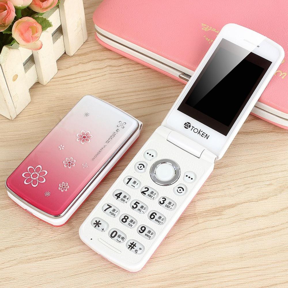 Фото. 2G GSM флип женский красивый тонкий, для мобильных телефонов телефон без FM камеры MP3 милый для сту