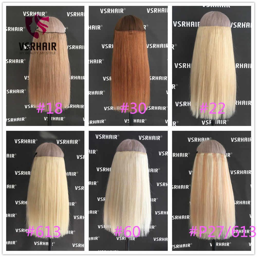 VSR 120g 150g קליפ שיער טבעי קל לעשות קליפ תוספות אירופאי עובי שיער מסתיים מכונת רמי שיער סגנון halo הארכת שיער