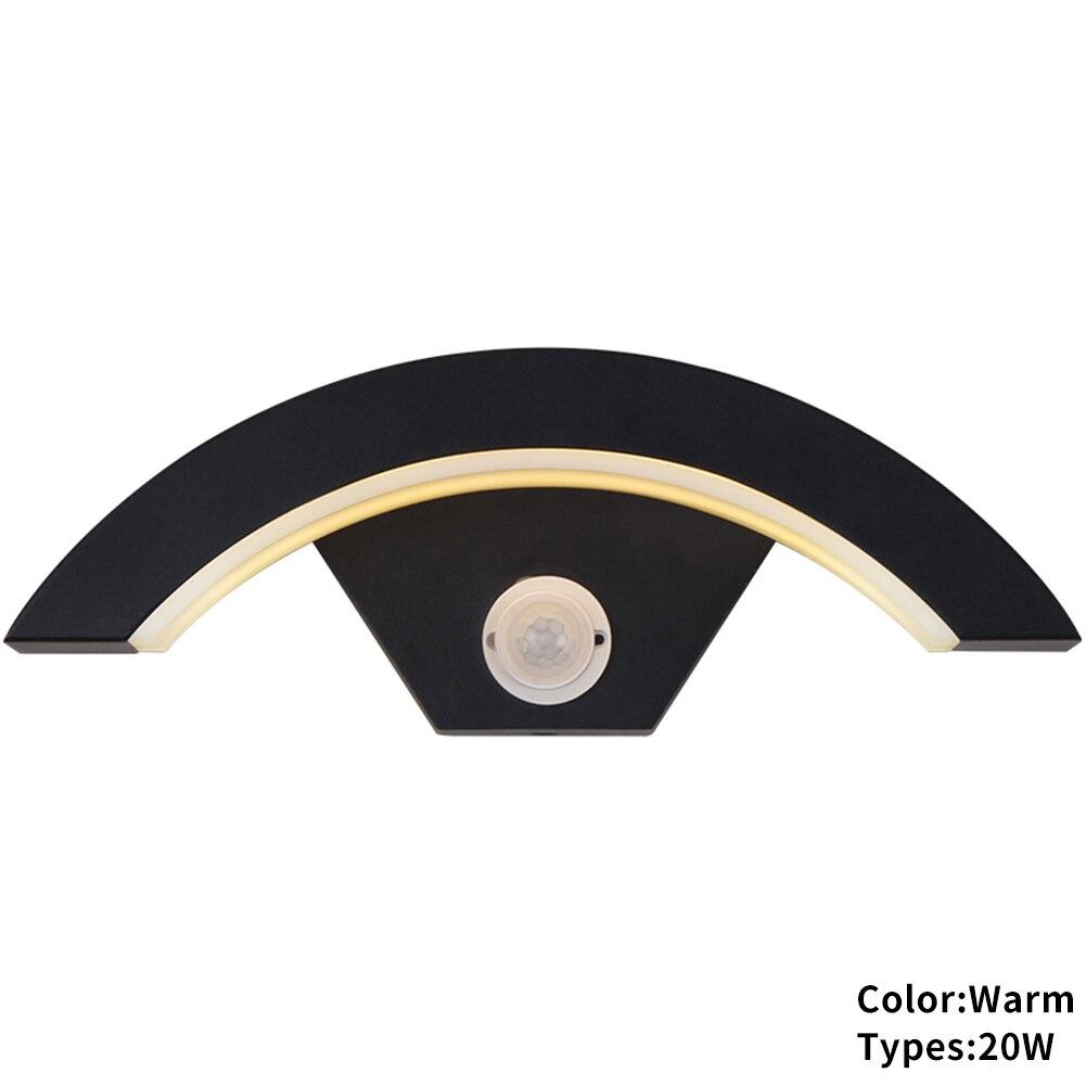Curve Lamp Aluminum Modern Wall Light Living Room Easy Install Hotel Integral Walkway Waterproof LED PIR Motion Sensor Hallway|LED Indoor Wall Lamps|Lights & Lighting - title=