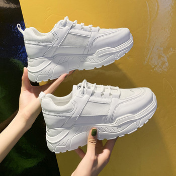 New White Women Sneakers Fashion Thick Bottom Womens Platform Casual Shoes Zapatos De Mujer Chunky