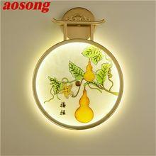 Настенный светильник aosong роскошные современные светодиодсветодиодный