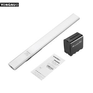 Image 1 - YONGNUO YN360S כף יד LED וידאו אור + BB 6 AA סוללות קייס 5500K Dimmable APP שלט רחוק כף יד צילום אור