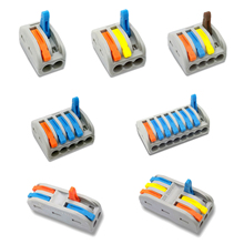 30/50/100 pcs 222 mini fast wire Connectors Universal Compact Wiring Connector push-in Terminal Block PCT-212 213 214 215 30 50 100 pcs lot pct 214 color 222 214 mini fast wire connectors universal compact wiring connector push in terminal block