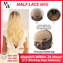 MW 13×6 Lace Wig Straight Human Hair Lace Wigs For Women Pre Plucked With Baby Hair Half Lace Front Long Wig 20 Inches