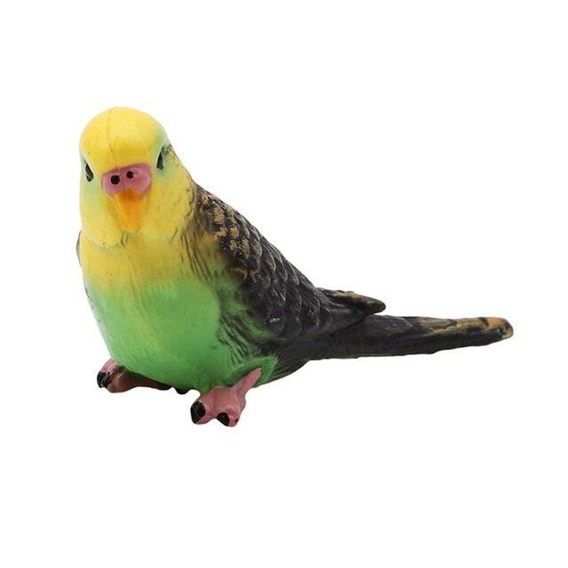 Plastic Bird Model Animal Wildlife Statue Simulation Parrot Exquisite Gift Vivid Figurine Artificial Home Decor 3