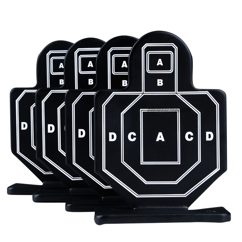 4pcs/pack Shooting Practice Target Tactical Rifle Hunting Training Target Metal Steel Military Airsoft Shooting Target