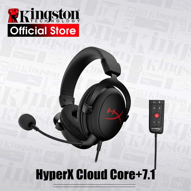 New Kingston HyperX Cloud Core+7.1 surround Gaming Headset With a microphone Professional esport headphones headphone black