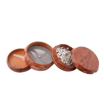 40mm drewno ziołowe zioło tytoń młynek do przypraw młynki do palenia akcesoria tytoniowe szlifierki chwastów rury Fumar tanie i dobre opinie Bezpłatne typu Drewna