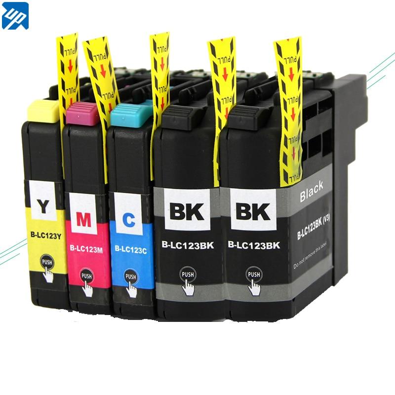 5 шт. совместимый чернильный картридж LC123 121 для brother J4610DW/J4710DW/J6520DW/J6720DW DCP-J132W/J152W/J172W/J552DW/J752DW/J4110DW