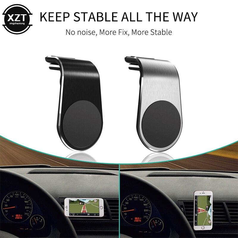 Универсальный магнитный автомобильный держатель для телефона, автомобильный держатель для iPhone X XS MAX Samsung, магнитное крепление на вентиляци...