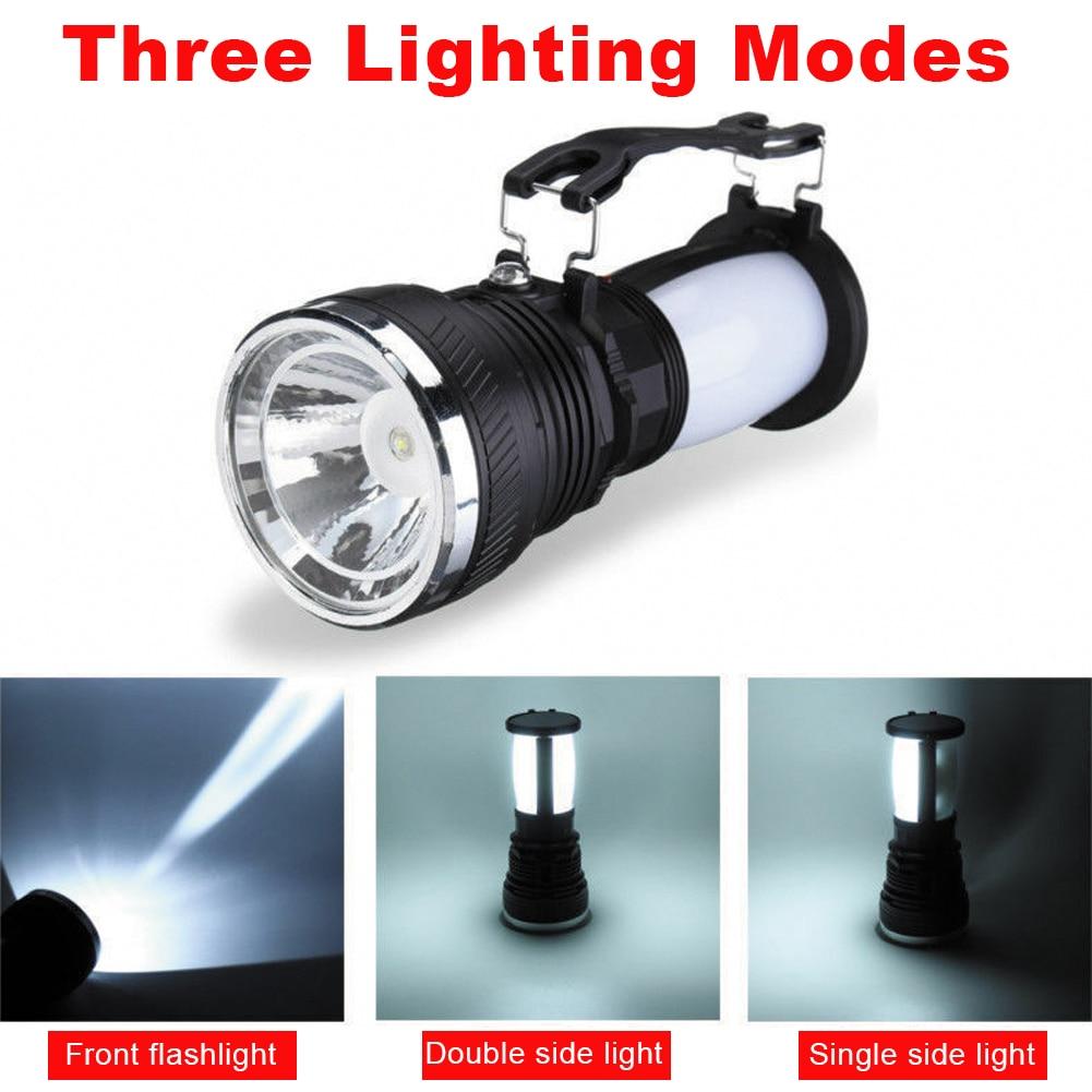 Солнечная мощность складной лампа фонарик портативный кемпинг свет перезаряжаемый фонарь открытый палатка свет аварийный