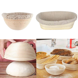 Natural Rattan Fermentation Wicker Basket Country Baguette French Bread Mass Proofing Baskets Dough Banneton Baskets