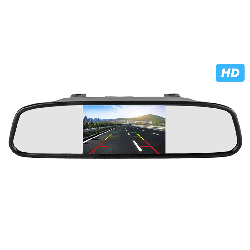 5 inch Spiegel Monitor Auto HD Rückspiegel Monitor CCD Video Einparkhilfe LED Nachtsicht Rückfahr Rückansicht kamera