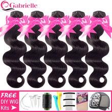 Mechones de onda corporal brasileña, cabello humano tejido, 30, 32 y 34 pulgadas, extensiones de cabello Remy de Color Natural, 3-5-10 Uds.