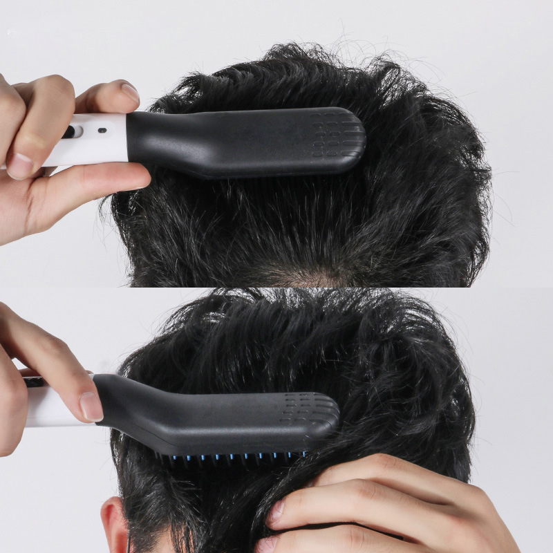 Beard Straighten Comb Brush Multifunctional  Electric Beard Comb And  Quick Hairstyle For Men 5