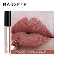 BANXEER блеск для губ матовый 8 цветов Блеск для губ бархатистая Помада Жидкая матовая водостойкая Помада для губ полный и насыщенный сексуальный блеск для макияжа, косметика для губ