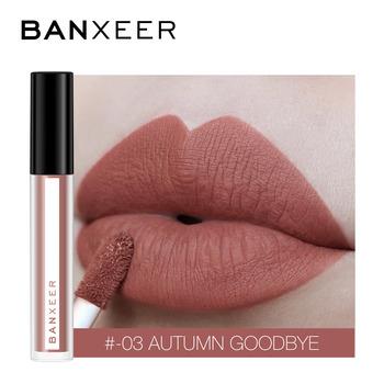 BANXEER błyszczyk matowy 8 kolorów błyszczyk aksamitna szminka płyn matowy wodoodporny odcień ust pełny i bogaty seksowny makijaż ust kosmetyki tanie i dobre opinie Krem nawilżający Inne 3 5ml Chiny GZZZ YGZWBZ BX-08 20190507 Mineral 1pc Lipgloss Matte W pełnym rozmiarze 8 Colors For Choose