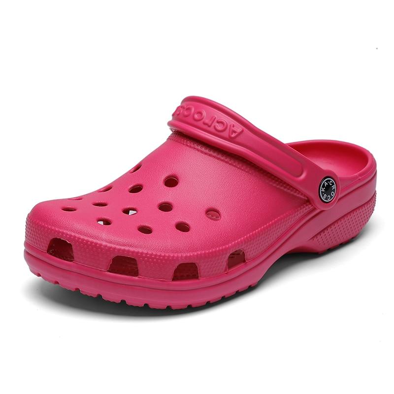 2020 Summer Crocse EVA Shoes Woman Ladies Gold Clogs Beach Flat Sandals Women Slippers Shoes Sandalen Zapatos Sandalias Mujer