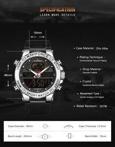 Image 3 - นาฬิกา NAVIFORCE นาฬิกาผู้ชายแบรนด์หรู Analog กีฬานาฬิกาข้อมือหนังแท้นาฬิกาผู้ชาย Relogio Masculino 9164