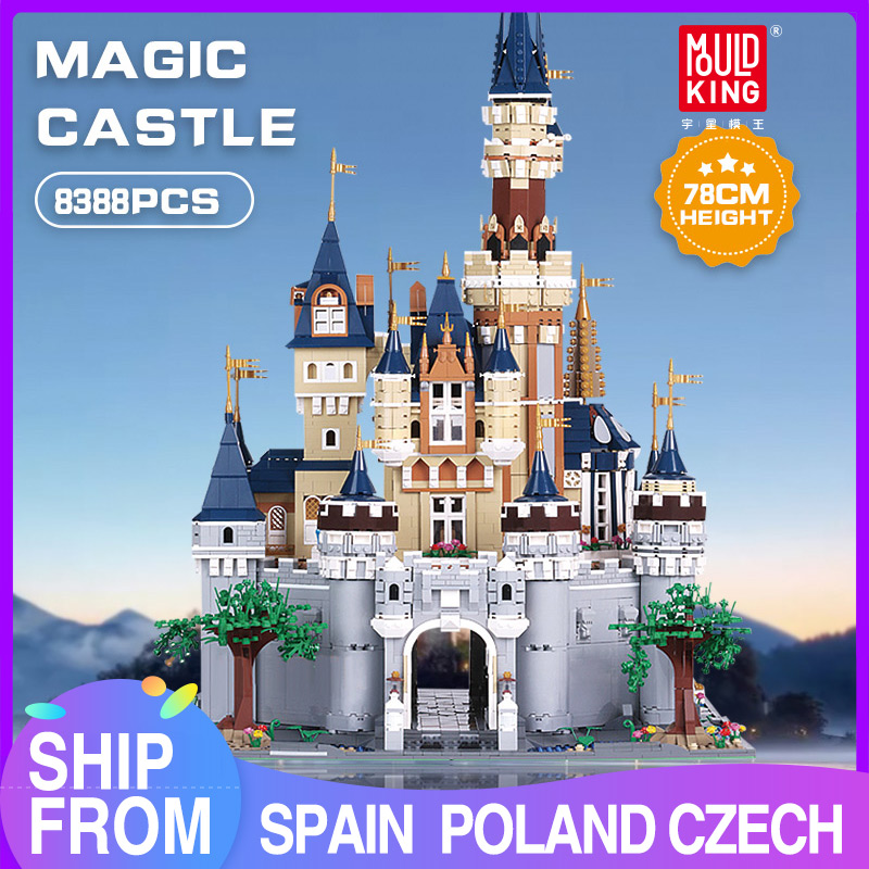 Mould King Girl Friends The MOC <font><b>13132</b></font> Princess Disneys Castle Model Building Blocks bricks with 71040 Kids Toys brick Gifts image