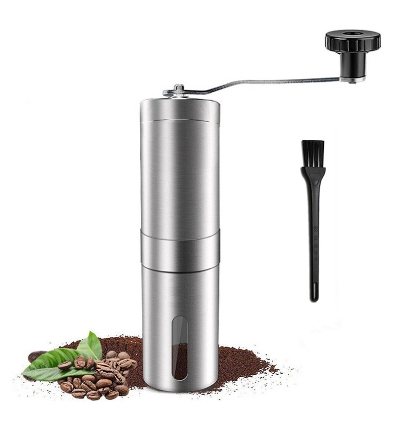 Manual Coffee Grinder Kitchen Tool Ceramics Core 304 Stainless Steel Hand Burr Mill Grinder Corn Coffee Grinding Machine