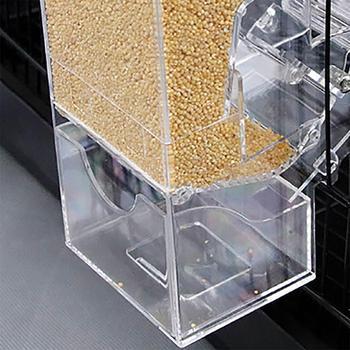 Yfashion Transparent Automatic Feeder for Mini Pet Birds Myna Parrots 4